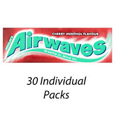 WRIGLEYS AIRWAVES CHERRY MENTHOL FLAVOUR SUGARFREE CHEWING GUM x 30 PACKS 183751