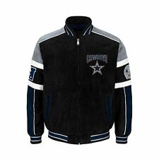 Dallas Cowboys NFL SUEDE & LEATHER COLORBLOCKED JACKET NWT