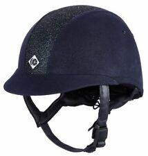 Charles Owen Elumen8 Sparkly Riding Hat Helmet navy blue PAS015:2011 58cm 7 1/8