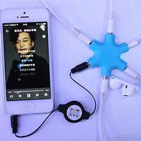 3.5mm Earphone Audio Splitter 6 Port Headphone Adapter For 3.5 mm Female Jacks