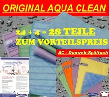 "Aqua Clean Fenstertuch Ultra Plus ""KRISTALL"" 24er SET + 4er Set ""DuoWeb"""