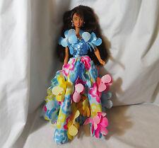 1996 Mattel Barbie doll Blossom Beauty brown skin Brunette tropical floral dress