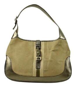 Gucci   Olive x Gold Jackie-O Hobo Shoulder Bag Ggtl859