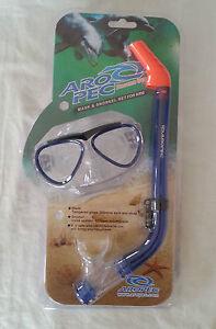 Aropec kids childs goggles mask snorkel combo set swimming beach pool