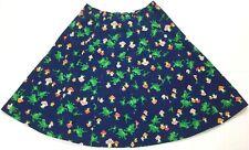 "New listing Women's Vintage 60's Novelty Frog Mushroom Wide Print Skirt 28"" Waist Size 14"