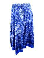 Lauren by Ralph Lauren Women's Printed Drawstring Maxi Skirt