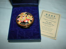 Rare Halcyon Days Enamels Mother'S Day 2004 Trinket Pill Box Made In England