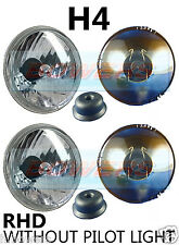 """PAIR OF 5.75"""" 5 3/4"""" CLASSIC CAR CRYSTAL HEADLAMPS HEADLIGHTS H4 WITHOUT PILOT"""