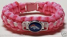 Denver Broncos Superbowl 50 Breast Cancer Awareness Pink Band Paracord Bracelet