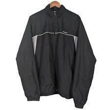 Vintage Reebok Black Full Zip Hooded Windbreaker Jacket - Mens Large