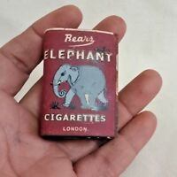 OLD VINTAGE ELEPHANT BRAND CIGARETTES MATCH COVER ADVERTISING  LONDON T2