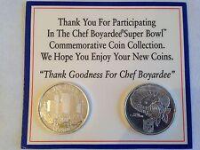 SUPER BOWL Commemorative Coin Collection XXVII Atlanta 1993 & XXVIII Rose 1994