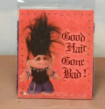 Good Hair Gone Bad paper decal Troll Doll black/red