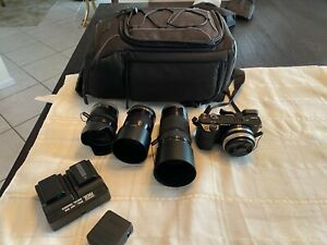 sony a6000 camera with 4 lens And Bag