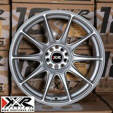 "Xxr 527 18"" X 8.75J ET35 5x100 5x114.3 Silver Plana-Juego de 4 ruedas"