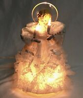 Vtg Christmas Angel Tree Topper Lighted Cherub Holiday Table Mid Century Xmas