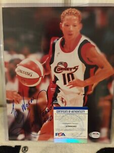 Kim Perrot (dec.1999 WNBA) SIGNED 8x10 photo Houston Comets PSA/DNA COA