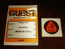Rare Cheap Trick Concert Memorabilia Tokyo, Japan H.I.P. Backstage Pass + Pick