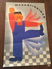 1970 Soviet-bloc era Communist Propaganda Poster - Lithuania MANKSTINKIMES