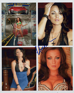 AMBER NICHOLE MILLER signed 8X10 PHOTO - Tito Ortiz WAGS Sexy UFC Ring Girl COA