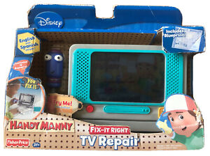 Fisher Price Handy Manny Fix-It Right TV Repair 2008 Disney in box NOS Rare