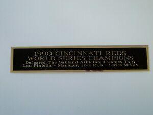 Cincinnati Reds 1990 World Series Nameplate For A Baseball Jersey 1.25 X 6