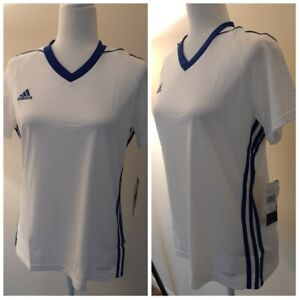 Adidas white And Blue Lines Active tops