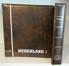 NETHERLANDS - PAIR OF HINGELESS STAMP ALBUMS - ALL PAGES COMPLETE 1852/1981