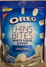 NEW NABISCO OREO THINS BITES WHITE FUDGE DIPPED CREME SANDWICH COOKIES 6.4 OZBAG