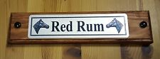 Personalised Horse Name Plaque Stable Door Wooden Plinth With Silver Plate Tack