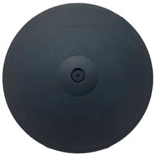 """More details for electronic ride cymbal lemon 18"""" 3 zone chokeable triple trigger drum pad 45cm"""