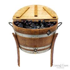 WINE BARREL 30 Gallon ICE CHEST Rustic Furniture Home Decor Bar Bistro Patio