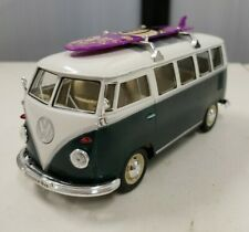 Welly 1963 Volkswagen T1 Bus 1/24 Scale Diecast Car Green Surfboard RARE