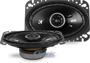 """2) Kicker 43DSC4604 D-Series 4x6"""" 240W 4-Ohm 2-Way Car Audio Coaxial Speakers"""