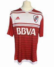 River Plate 2016-17 Away Football Shirt Adidas Red White UK XL Carp Argentina