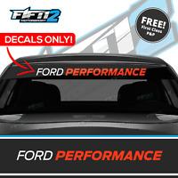 Ford Performance Decal Sticker Graphics Sun Strip Decals Vinyl Window Banner