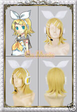 Japan Anime Vocaloid Kagamine Rin Cosplay Wig Hair Synthetic Wigs NEW