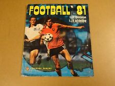 PANINI ALBUM COMPLET INCL TOUS STICKERS / FOOTBALL 81 I et II DIVISION