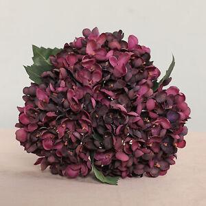 ARTIFICIAL FLOWERS FAUX SILK HYDRANGEA FAKE FLORAL PLANT WEDDING PARTY DECOR