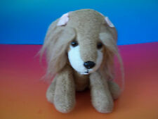 "5"" Russ Berrie Brown KASHA  Luv Pets Suede Puppy Dog Plush Bean Bag Toy GUC"