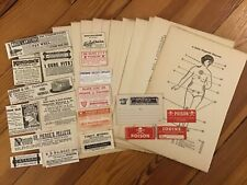 Authentic Vintage 40 Piece Medical Science Pharmacy Ephemera Pack