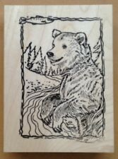 Mounted Rubber Stamps, Alaska, Wildlife Stamps, Animals, Bears, Grizzly Bear