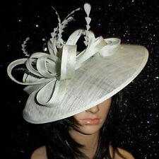 FAILSWORTH MINT GREEN WEDDING HAT DISC FASCINATOR FORMAL MOTHER OF THE BRIDE