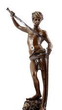Bronzestatue - David (nach dem Kampf) - signiert Antonin Mercié