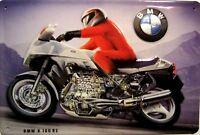 BMW k 100 Rs Letrero de Metal 3D en Relieve Arqueado Tin Sign 20 X 30Cm
