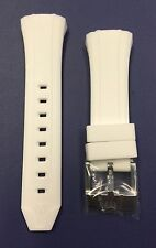 Authentic TechnoMarine White Silicone Silver Buckle for 40mm Cruise
