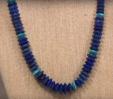 "Jay King Graduated Lapis and Turquoise Disc 18"" Sterling Silver Necklace NWT"
