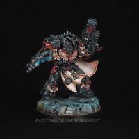 Warhammer Dark Angels Legion Praetor in Cataphractii, NMM style of painting