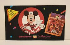DISNEY CHANNEL MICKEY MOUSE CLUB TELEVISION SHOW SMALL PROMO BROCHURE 1989