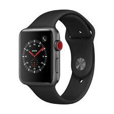 Apple Watch Series 3 LTE 42mm Aluminiumgehäuse Space Grau Sportarmband Schwarz